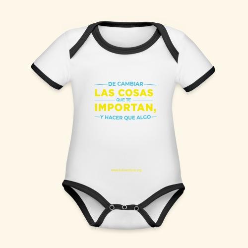 Cambia las cosas - Body contraste para bebé de tejido orgánico