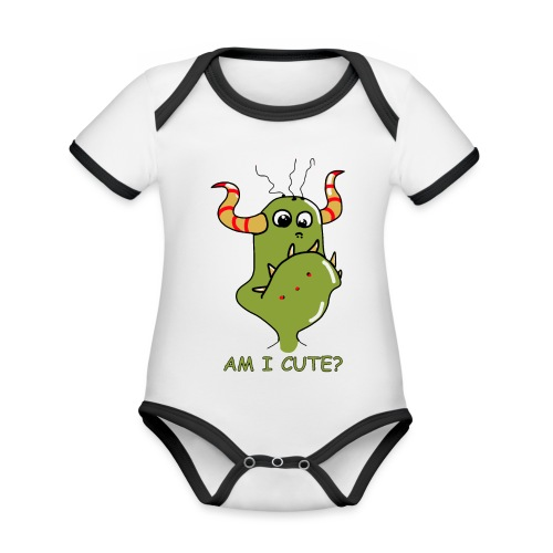 Cute monster - Organic Baby Contrasting Bodysuit