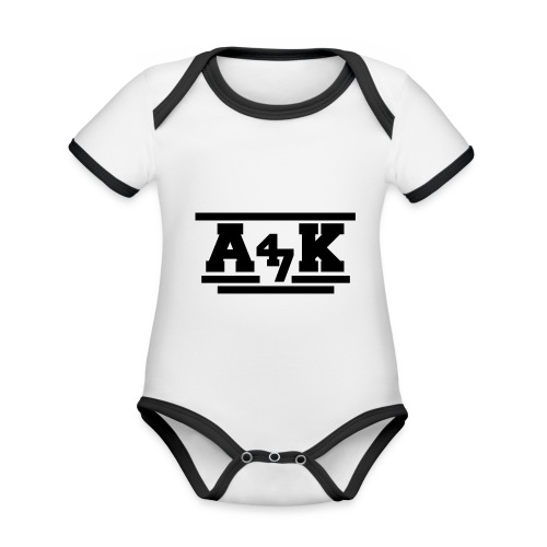 - A _K - - Organic Baby Contrasting Bodysuit