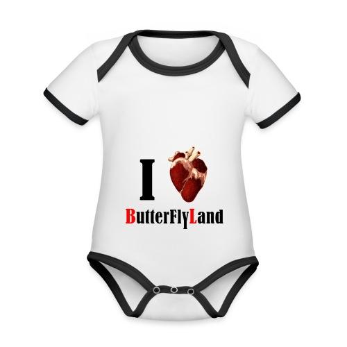 I love Butterflyland - Body Bébé bio contrasté manches courtes