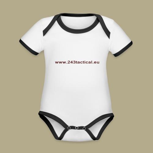 .243 Tactical Website - Baby contrasterend bio-rompertje met korte mouwen