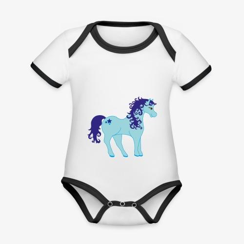 Einhorn ohne Horn ;) - Baby Bio-Kurzarm-Kontrastbody