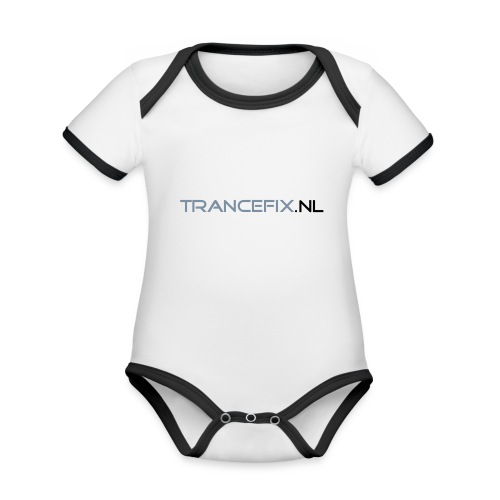 trancefix text - Organic Baby Contrasting Bodysuit