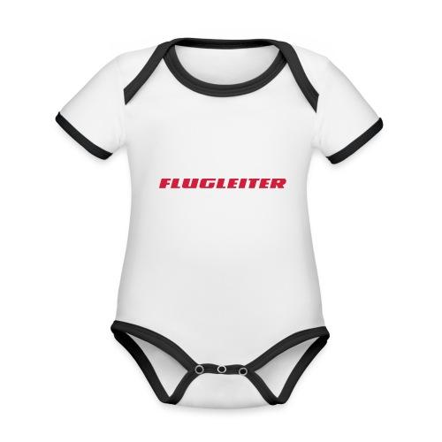 flugleiter - Baby Bio-Kurzarm-Kontrastbody