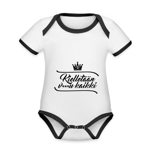 Kielletään v***u kaikki - Vauvan kontrastivärinen, lyhythihainen luomu-body