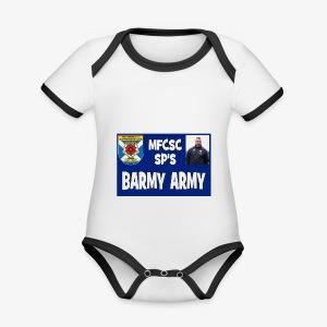 Barmy Army - Organic Baby Contrasting Bodysuit