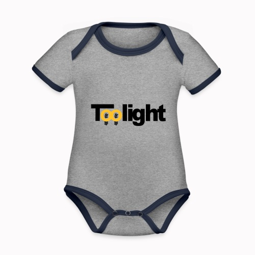 toolight off - Body da neonato a manica corta, ecologico e in contrasto cromatico