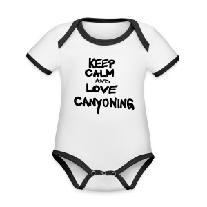 keep calm and love canyoning - Baby Bio-Kurzarm-Kontrastbody