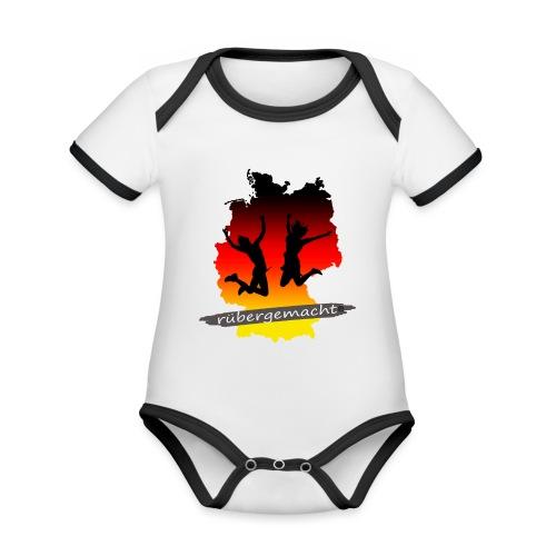 Rübergemacht - Baby Bio-Kurzarm-Kontrastbody