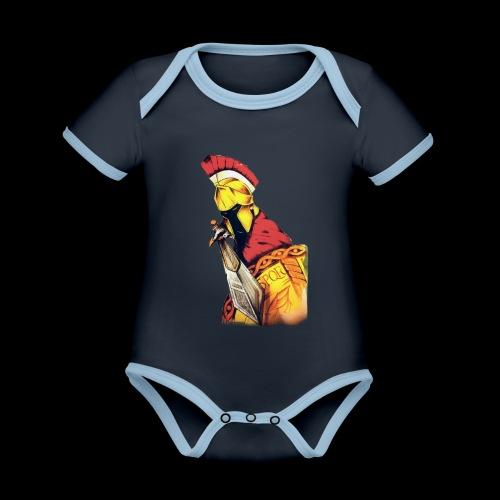 Centurion Roman - Body da neonato a manica corta, ecologico e in contrasto cromatico