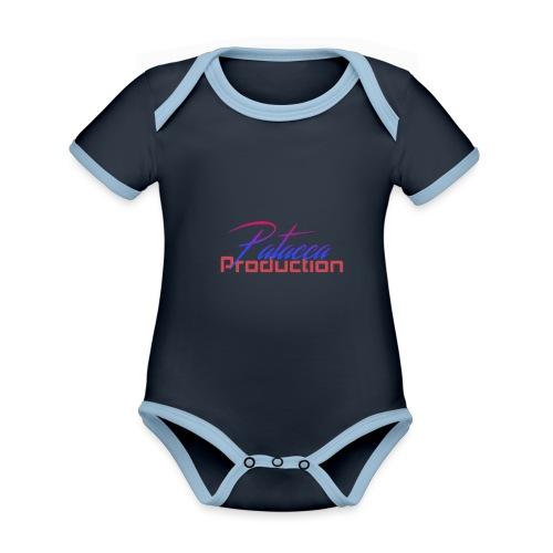 PATACCA PRODUCTION - Body da neonato a manica corta, ecologico e in contrasto cromatico