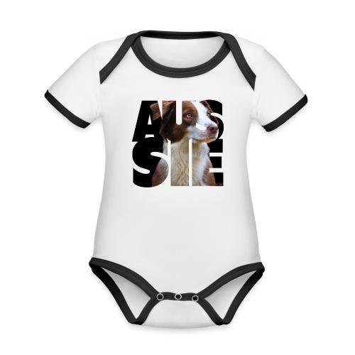 Aussie II - Vauvan kontrastivärinen, lyhythihainen luomu-body