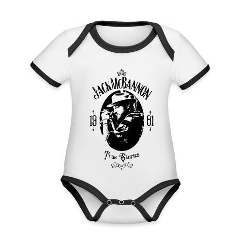 Jack McBannon - True Stories Portrait - Baby Bio-Kurzarm-Kontrastbody