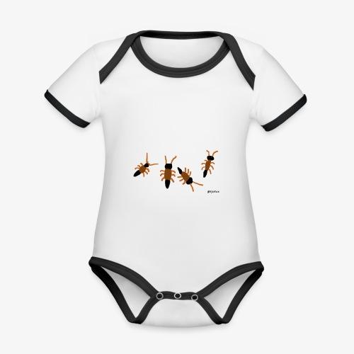otokat - Vauvan kontrastivärinen, lyhythihainen luomu-body