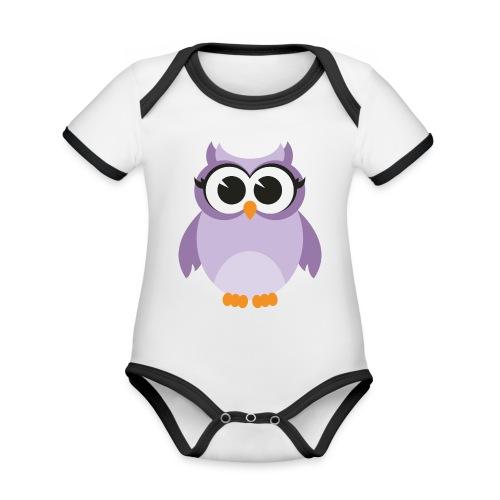 Buho Piconela - Body contraste para bebé de tejido orgánico