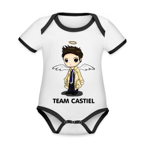 Team Castiel (light) - Organic Baby Contrasting Bodysuit