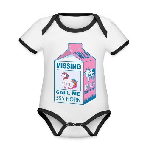 Missing Unicorn - Lost Unicorn - Organic Baby Contrasting Bodysuit