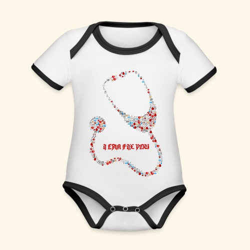 i will fix you stethoscope - Organic Baby Contrasting Bodysuit