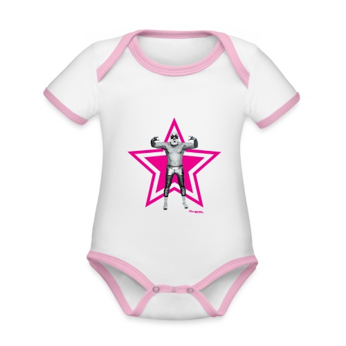 Hazy Logo - Baby Bio-Kurzarm-Kontrastbody