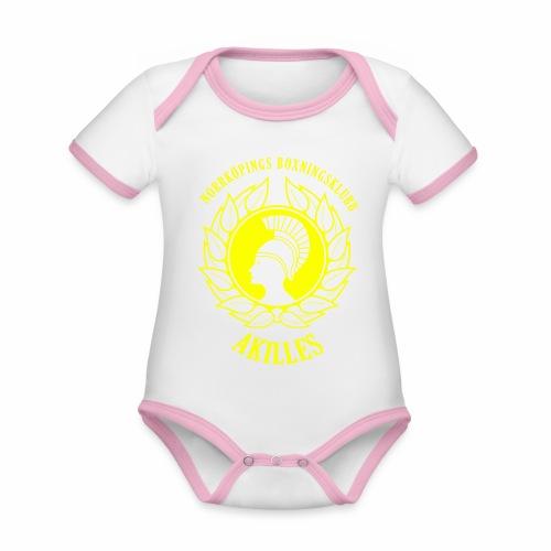 NBKALogga - Ekologisk kontrastfärgad kortärmad babybody