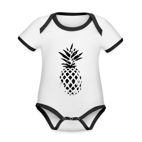 ananas - Body Bébé bio contrasté manches courtes