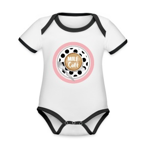 Milfcafé - MILF Logo Instagram Blogger Musthave - Baby Bio-Kurzarm-Kontrastbody