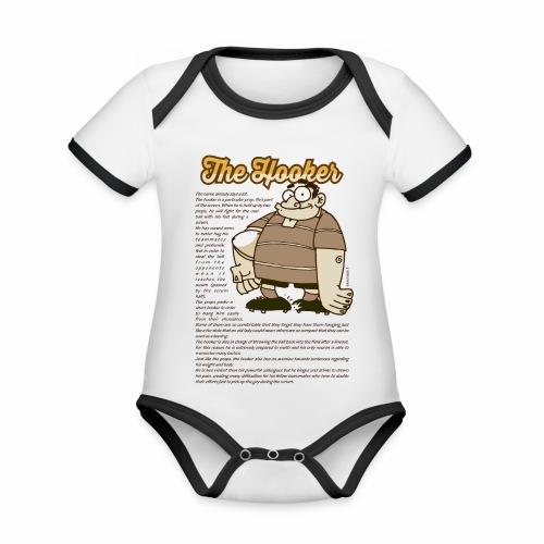 Hooker_Marplo.png - Body da neonato a manica corta, ecologico e in contrasto cromatico