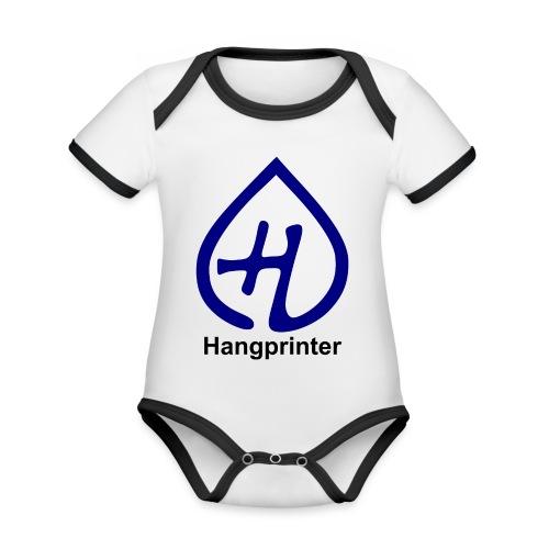 Hangprinter logo and text - Ekologisk kontrastfärgad kortärmad babybody