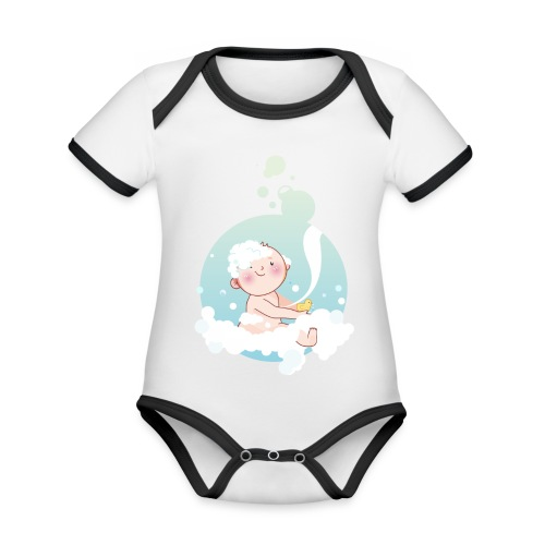 Umstandsmode T-Shirt mit Motiv - Baby Bio-Kurzarm-Kontrastbody