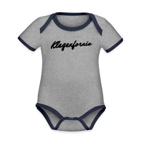 klagenfornia classic - Baby Bio-Kurzarm-Kontrastbody