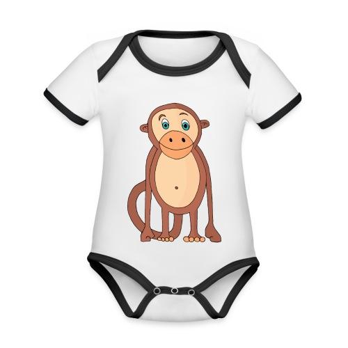 Bobo le singe - Body Bébé bio contrasté manches courtes