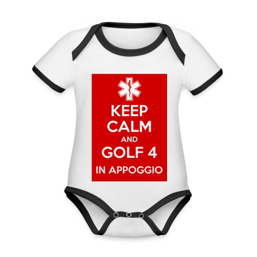 IMG 4119 JPG - Body da neonato a manica corta, ecologico e in contrasto cromatico