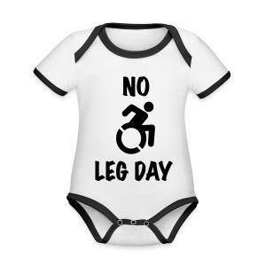 nolegday - Baby contrasterend bio-rompertje met korte mouwen