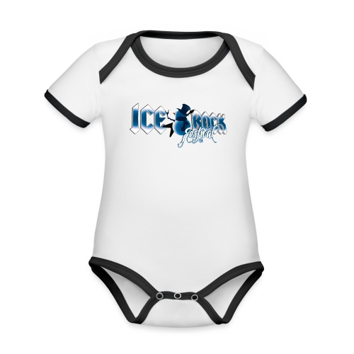 Schriftzug normal - Baby Bio-Kurzarm-Kontrastbody