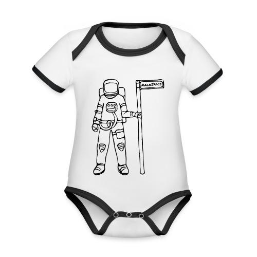 KalkSpace Astronaut - Baby Bio-Kurzarm-Kontrastbody