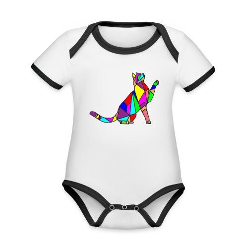 composizione di arte animale animale domestico colori gatto - Body da neonato a manica corta, ecologico e in contrasto cromatico