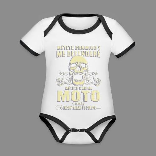 Me defenderé - Body contraste para bebé de tejido orgánico