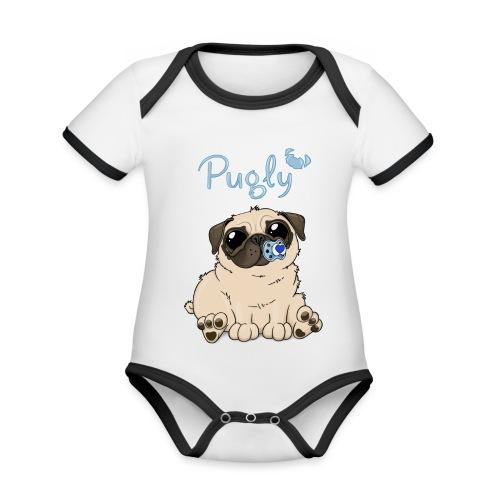 Bobo Pug - Ekologisk kontrastfärgad kortärmad babybody