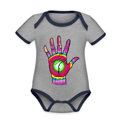 Stop and change the world - Organic Baby Contrasting Bodysuit