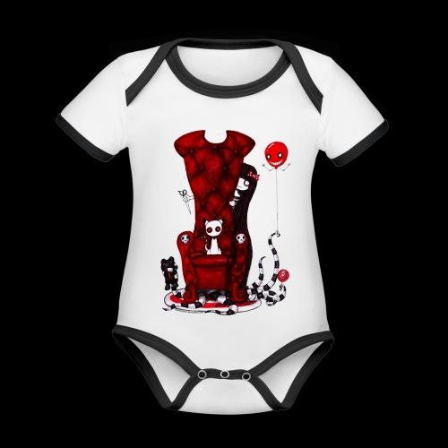 Cruelle petite fille - Body Bébé bio contrasté manches courtes
