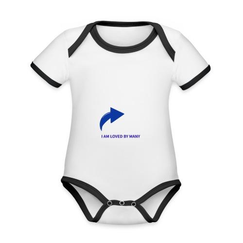 1527348336103 - Ekologisk kontrastfärgad kortärmad babybody