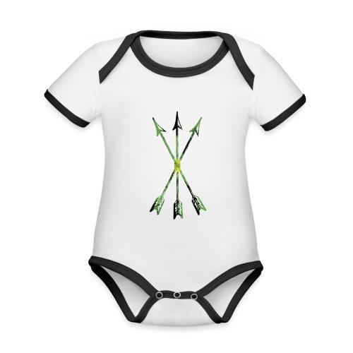 Scoia tael emblem green yellow black - Organic Baby Contrasting Bodysuit
