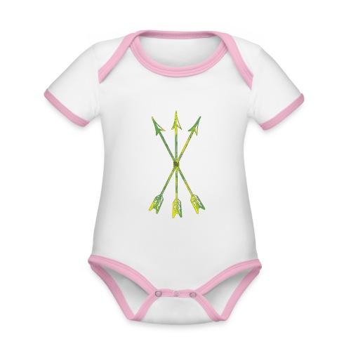 Scoia tael emblem green yellow - Organic Baby Contrasting Bodysuit