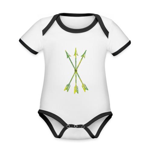 Scoia tael emblem green yellow - Organic Baby Contrasting Bodysuit