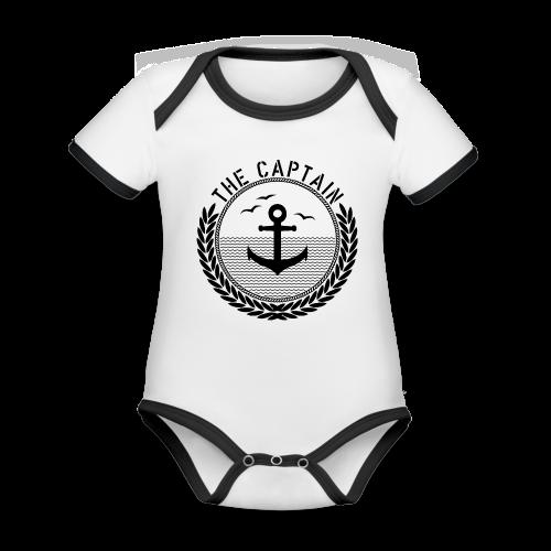 The Captain - Anchor - Baby Bio-Kurzarm-Kontrastbody