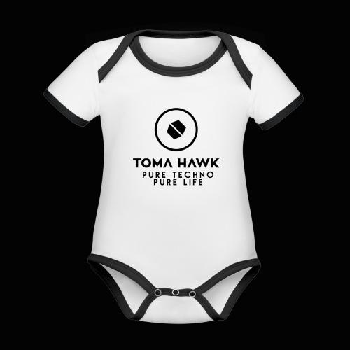 Toma Hawk - Pure Techno - Pure Life Black - Baby Bio-Kurzarm-Kontrastbody