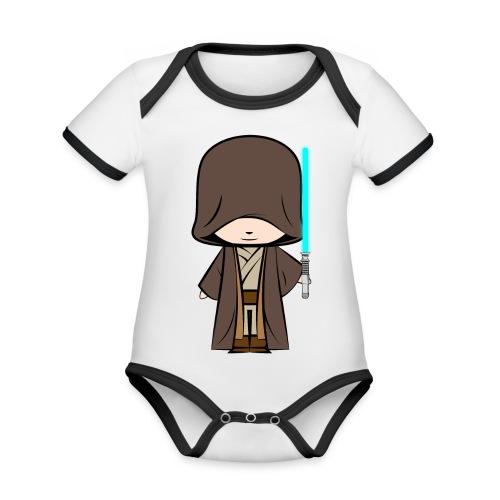 Jedi_Generique - Body Bébé bio contrasté manches courtes
