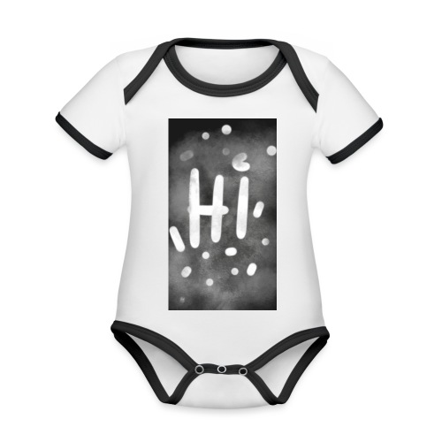 Hola o hi nublado - Body contraste para bebé de tejido orgánico