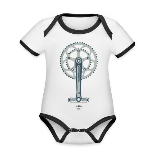 Pédale. Gay Slang: France. Grey. - Body contraste para bebé de tejido orgánico