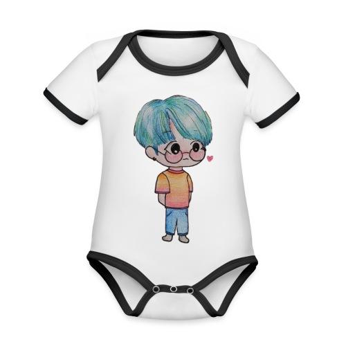 ole - Baby Bio-Kurzarm-Kontrastbody